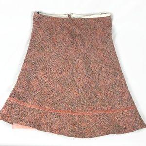 GAP Pink Tweed Wool Skirt Size 4
